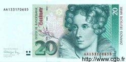 20 Deutsche Mark ALLEMAGNE FÉDÉRALE  1991 P.39a pr.NEUF