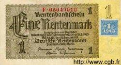 1 Deutsche Mark sur 1 Rentenmark ALLEMAGNE  1948 P.001 SUP+