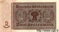 2 Deutsche Mark sur 2 Rentenmark ALLEMAGNE DE L