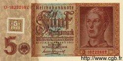 5 Deutsche Mark sur 5 Reichsmark ALLEMAGNE  1948 P.003 NEUF