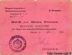 2 Francs ALLEMAGNE  1915 P.M03 pr.TB