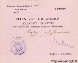 1 Franc ALLEMAGNE Chauny 1915 P.M06 SUP