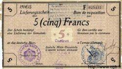 5 Francs ALLEMAGNE Castres 1915 P.M09 TB+
