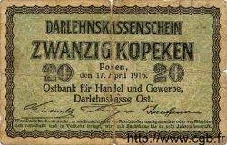 20 Kopeken ALLEMAGNE  1916 P.R120 B