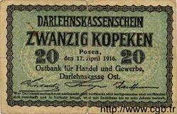 20 Kopeken ALLEMAGNE  1916 P.R120 pr.TB