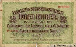 3 Rubel ALLEMAGNE  1916 P.R123b B