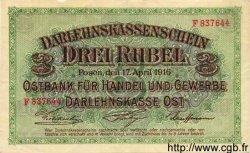 3 Rubel ALLEMAGNE  1916 P.R123b SUP