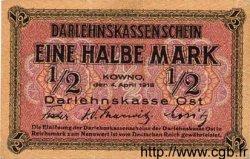 1/2 Mark ALLEMAGNE  1918 P.R127 SPL