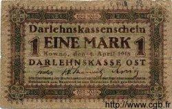 1 Mark ALLEMAGNE  1918 P.R128 B+