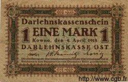 1 Mark ALLEMAGNE Kowno 1918 P.R128 TB+