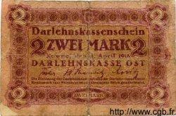 2 Mark ALLEMAGNE  1918 P.R129 B