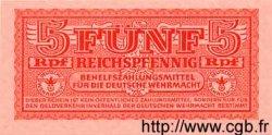 5 Reichspfennig ALLEMAGNE  1942 P.M20 (Grèce) pr.NEUF