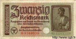 20 Reichsmark ALLEMAGNE  1940 P.R139 TB
