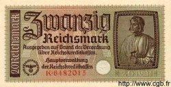 20 Reichsmark ALLEMAGNE  1940 P.R139 pr.NEUF