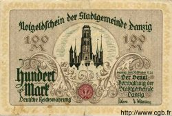 100 Mark DANTZIG  1922 P.13 TTB+