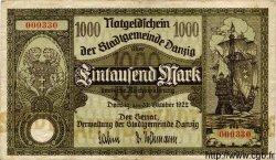 1000 Mark DANTZIG  1922 P.15 pr.TTB