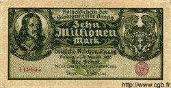 10 Millionen Mark DANTZIG  1923 P.25b TTB