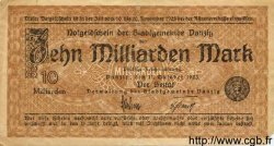 10 Milliarden Mark DANTZIG  1923 P.31a TTB