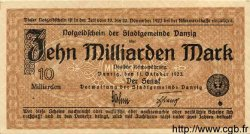 10 Milliarden Mark DANTZIG  1923 P.31a SUP à SPL