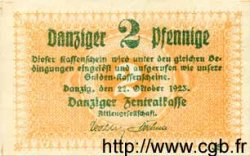 2 Pfennig DANTZIG  1923 P.33 pr.NEUF