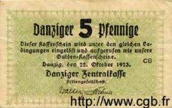5 Pfennig DANTZIG  1923 P.34b TTB+