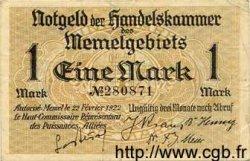 1 Mark MEMEL  1922 P.02 TTB