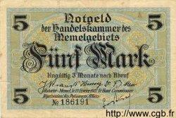 5 Mark MEMEL  1922 P.04a TTB