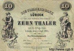 10 Thaler ALLEMAGNE  1865 PS.0311 TTB