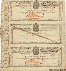 3 Francs ALLEMAGNE  1817 PS.0802 TTB+