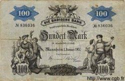 100 Mark ALLEMAGNE Mannheim 1907 PS.0906a TB+