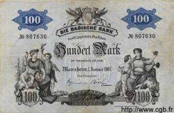 100 Mark ALLEMAGNE Mannheim 1907 PS.0906a TTB