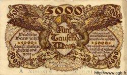 5000 Mark ALLEMAGNE  1922 PS.0909 TTB