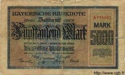 5000 Mark ALLEMAGNE  1922 PS.0925 B+