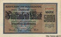5000 Mark ALLEMAGNE Munich 1922 PS.0925 TTB+