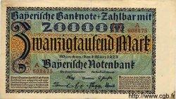 20000 Mark ALLEMAGNE Munich 1923 PS.0926 TTB+