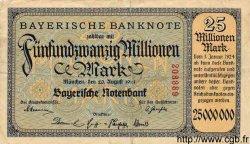 25 Millionen Mark ALLEMAGNE  1923 PS.0933 TTB