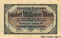 100 Millionen Mark ALLEMAGNE Dresden 1923 PS.0965 TTB à SUP
