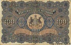 100 Mark ALLEMAGNE Stuttgart 1911 PS.0979b TTB