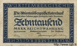 10000 Mark ALLEMAGNE Stuttgart 1923 PS.0982 TTB