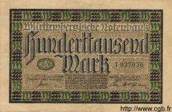 100000 Mark ALLEMAGNE Stuttgart 1923 PS.0985 TTB