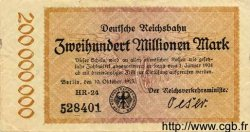 200 Millionen Mark ALLEMAGNE  1923 PS.1018 TTB