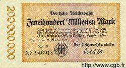 200 Millionen Mark ALLEMAGNE  1923 PS.1018 pr.NEUF
