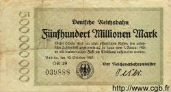 500 Millionen Mark ALLEMAGNE  1923 PS.1019 B+