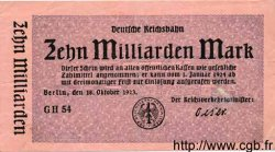 10 Milliarden Mark ALLEMAGNE  1923 PS.1021 TTB