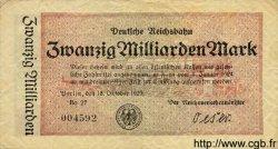 20 Milliarden Mark ALLEMAGNE  1923 PS.1022 TTB