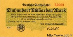 100 Milliarden Mark ALLEMAGNE  1923 PS.1024 SUP+