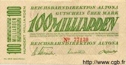 100 Milliarden Mark ALLEMAGNE  1923 PS.1123 pr.NEUF