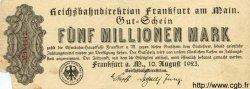 5 Millionen Mark ALLEMAGNE  1923 PS.1218 TB
