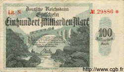 100 Milliarden Mark ALLEMAGNE  1923 PS.1273 TB