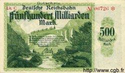500 Milliarden Mark ALLEMAGNE  1923 PS.1276 TTB+